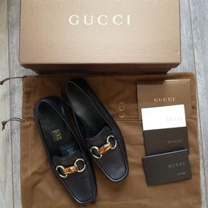 Brand new Gucci bamboo horsebit loafers